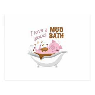 A GOOD MUD BATH POSTCARD