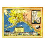 A good-natured map of Alaska Postcard