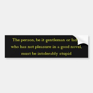 A Good Novel Bumper Sticker
