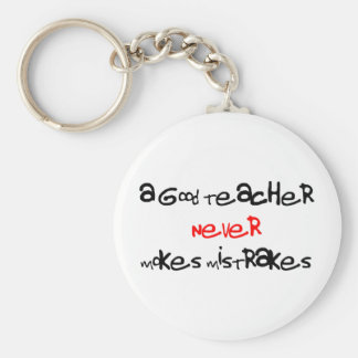 a good teacher basic round button key ring