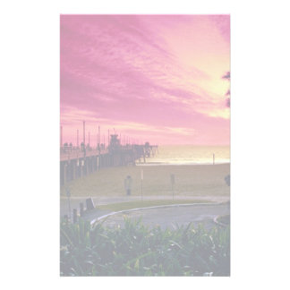 A gorgeous sunset at the pier, Huntington Beach, C Stationery