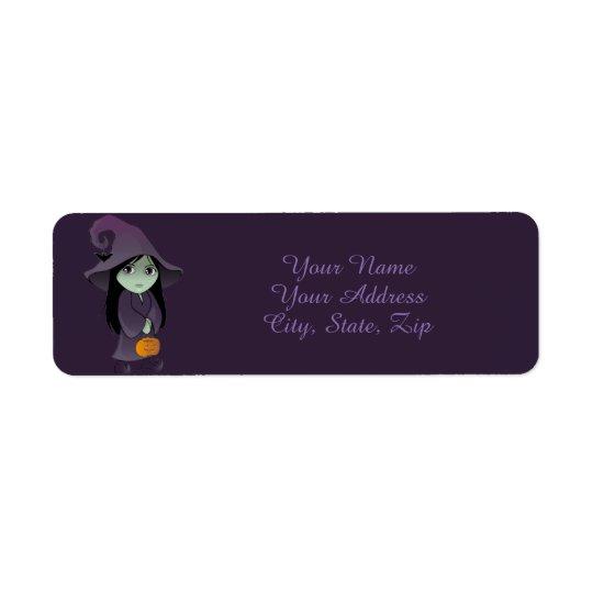 A Goth Witch Return Address Label