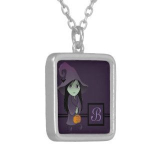 A Goth Witch Silver Plated Necklace