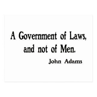 A Government of Laws Postcard