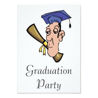 A Graduate 13 Cm X 18 Cm Invitation Card