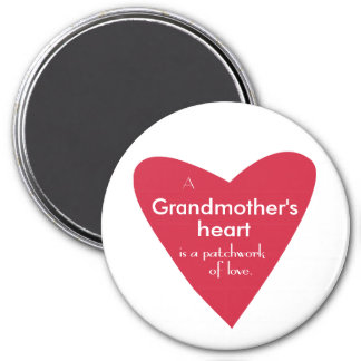 A Grandmother's Heart 7.5 Cm Round Magnet