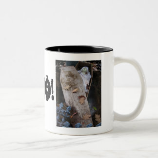 A Grave Ghoul on Halloween - photograph Two-Tone Mug