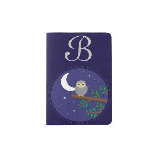 A Gray Owl Passport Holder