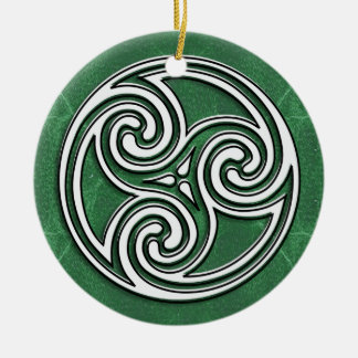 A great Celtic or Irish Holiday Photo Ornament
