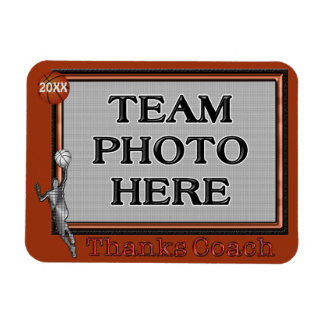 A Great Gift to Give to Your Basketball Coach Rectangular Photo Magnet