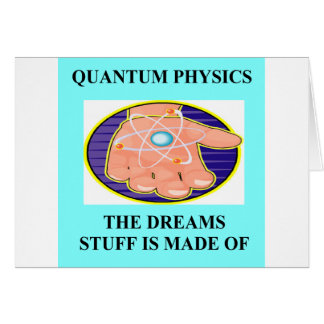 A Great Physics Design Greeting Card