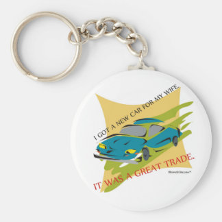 A Great Trade. Basic Round Button Key Ring