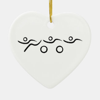 A great Triathlon gift for your friend or family Ceramic Heart Decoration