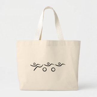 A great Triathlon gift for your friend or family Jumbo Tote Bag