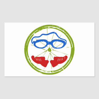 A great Triathlon gift for your friend or family Rectangle Sticker