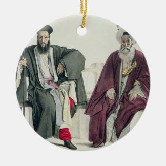 A Greek Priest and a Turk, engraved by the Thierry Christmas Ornament