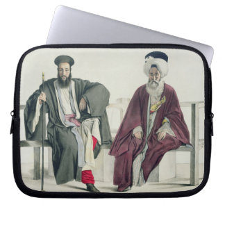 A Greek Priest and a Turk, engraved by the Thierry Laptop Sleeve