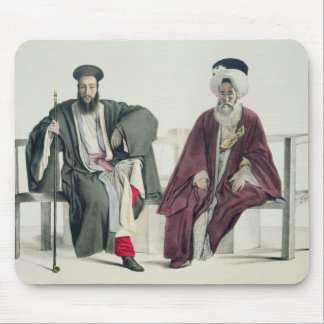 A Greek Priest and a Turk, engraved by the Thierry Mouse Mat
