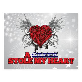 A Greek Stole my Heart Postcard