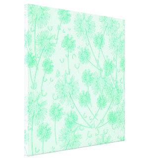 A Green Dandelion Canvas Print