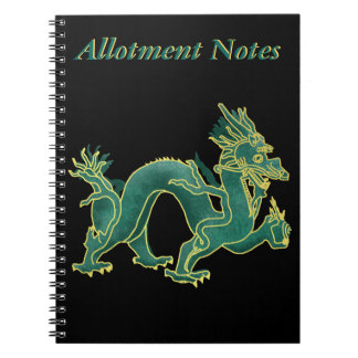A green Dragon with Gold Trim Notebook