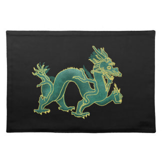 A Green Dragon with Gold Trim Placemat