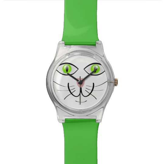 A Green Eyed Cat Adjustable Watch