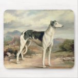 A Greyhound in a hilly landscape Mouse Mat