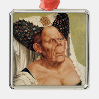 A Grotesque Old Woman, possibly Princess Margaret Christmas Ornament