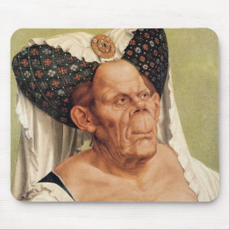 A Grotesque Old Woman, possibly Princess Margaret Mouse Mat