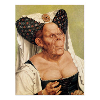 A Grotesque Old Woman, possibly Princess Margaret Postcard