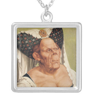 A Grotesque Old Woman, possibly Princess Margaret Silver Plated Necklace