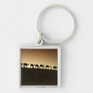 A group of camel herders with their camels at keychains