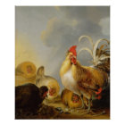 A Group of Farmyard Fowl, 1643 Poster