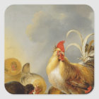A Group of Farmyard Fowl, 1643 Square Sticker