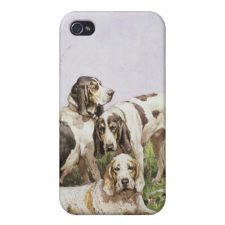A Group of French Hounds iPhone 4 Case
