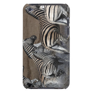 A group of Planes Zebra (Equus quagga) at a iPod Touch Cases