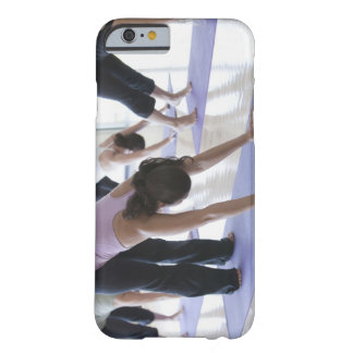 a group of women practicing yoga in a bright barely there iPhone 6 case
