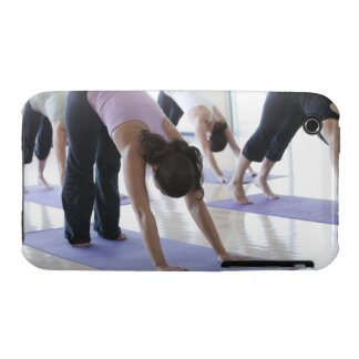 a group of women practicing yoga in a bright iPhone 3 Case-Mate case