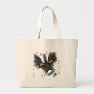 A Grumpy Cat Large Tote Bag
