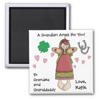 A Guardian Angel for You ! Square Magnet