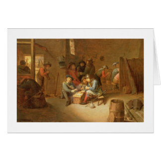 A Guardroom Interior with Soldiers playing Cards (