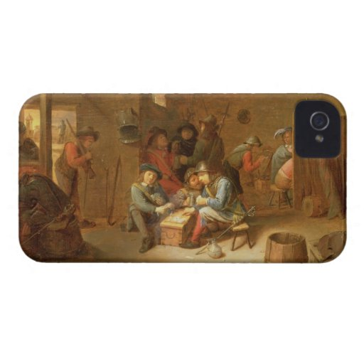A Guardroom Interior with Soldiers playing Cards ( Case-Mate iPhone 4 Cases