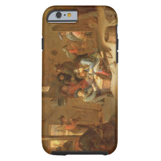 A Guardroom Interior with Soldiers playing Cards ( Tough iPhone 6 Case