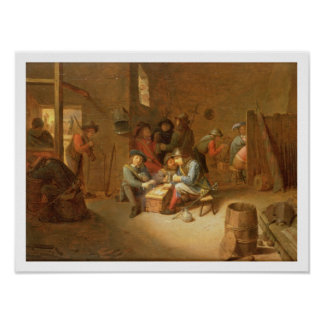 A Guardroom Interior with Soldiers playing Cards ( Poster