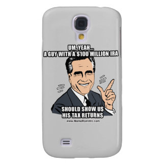 A GUY WITH A 100 MILLION DOLLAR IRA SHOULD SHOW US GALAXY S4 CASE