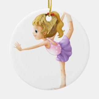A gymnast christmas ornament