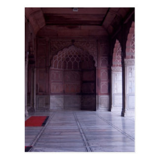 A hall inside the Jama Masjid Postcard