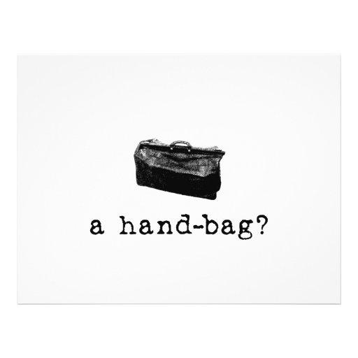 A Handbag? 21.5 Cm X 28 Cm Flyer