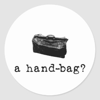 A Handbag Round Sticker
